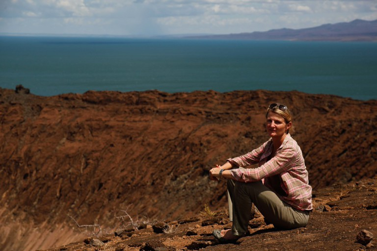 Dr. Louise Leakey at Nabiyotum (Photo credit- Mikey Carr-Hartley)