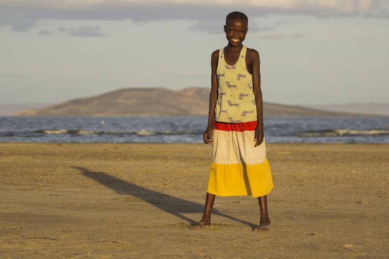 Young girl on the shores of Lake Turkana (Photo credit- Lorna Buchanan-Jardine)