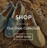 Hand made shoes with link to shop